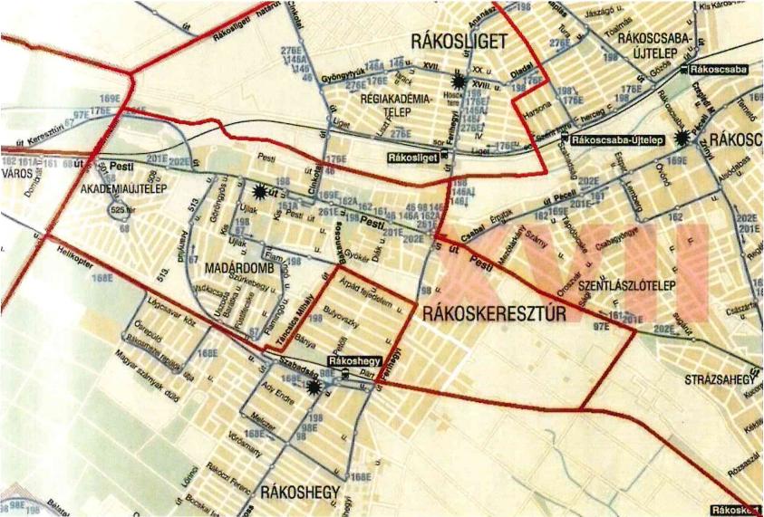 Egyházközség térképe